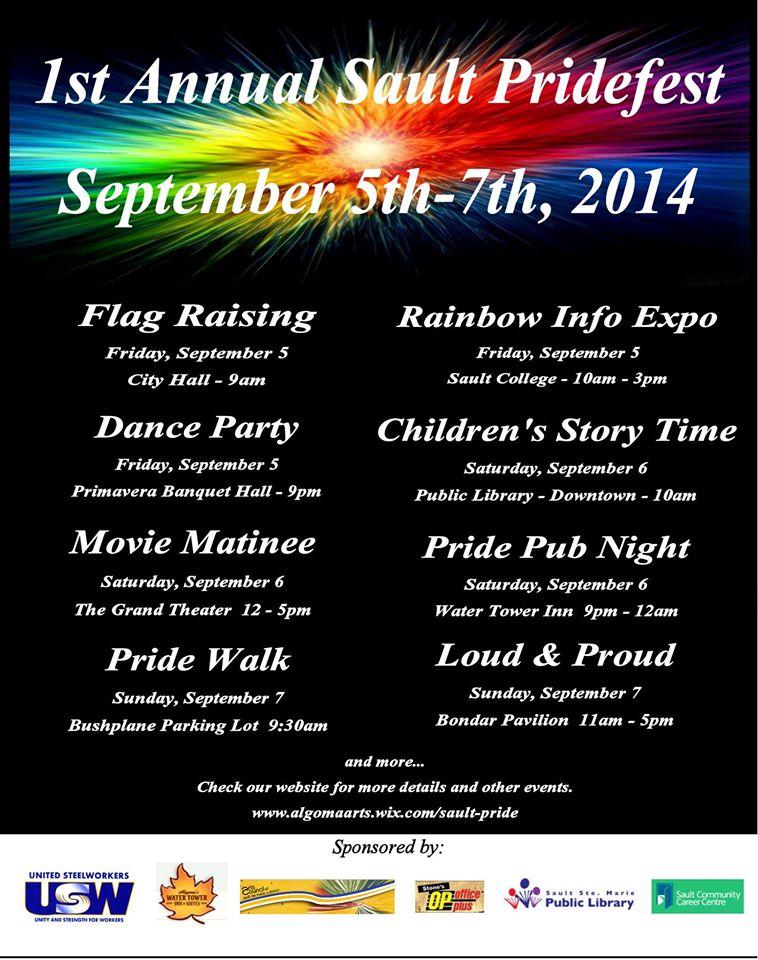 Pridefest schedule