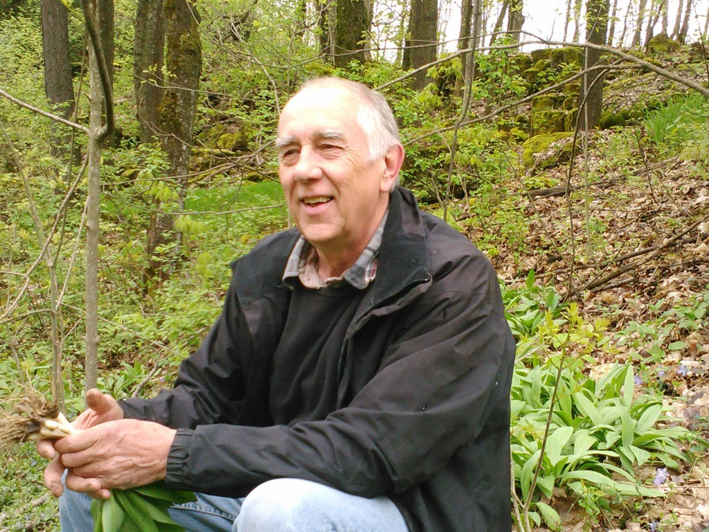 Jonathan Forbes, founder of Forbes Wild Foods. Amongst the wild leeks. (photo courtesy of Forbes Wild Foods)