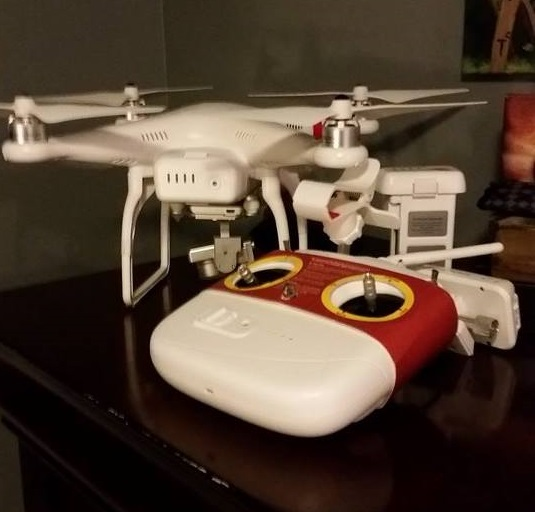 "DJI Phantom Vision 2 Plus- Kim Dietz's 'baby'. ""No name yet,"" he says. ""But it's definitely a 'she'!"""