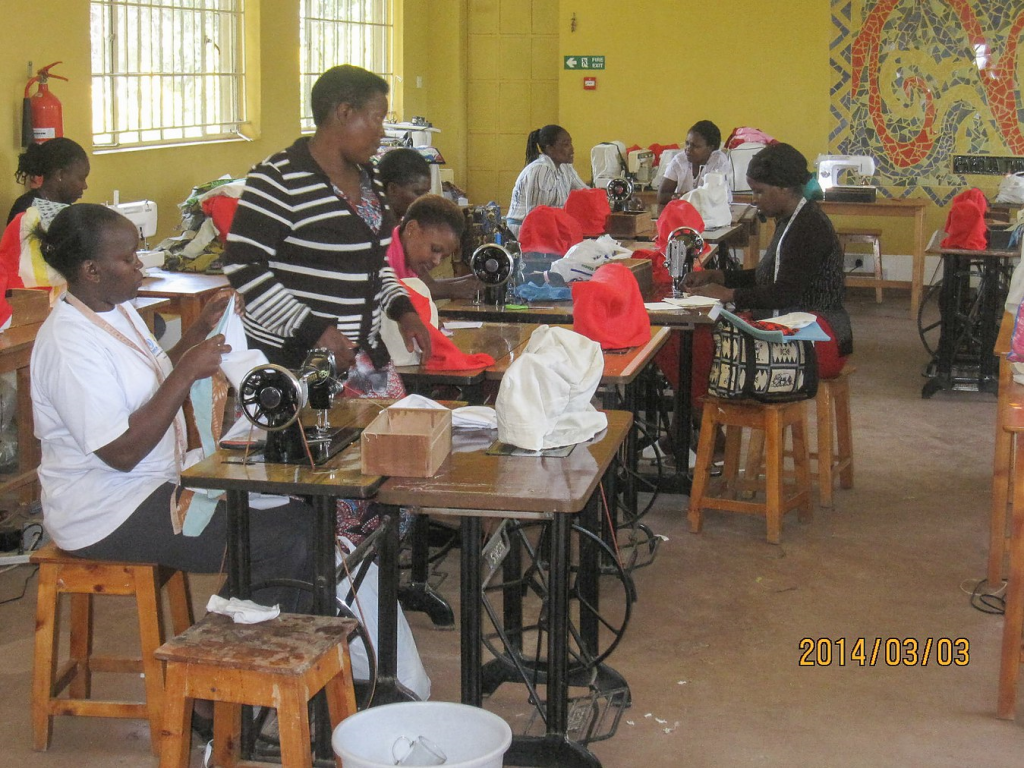 Amani Ya Juu Fair trade sewing and training program, Africa. Photo courtesy of Holly Wicket