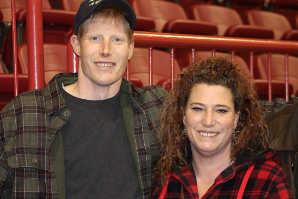 Harrison and Sherry at their Knoxes annual family and friend skate December 26th, 2015.