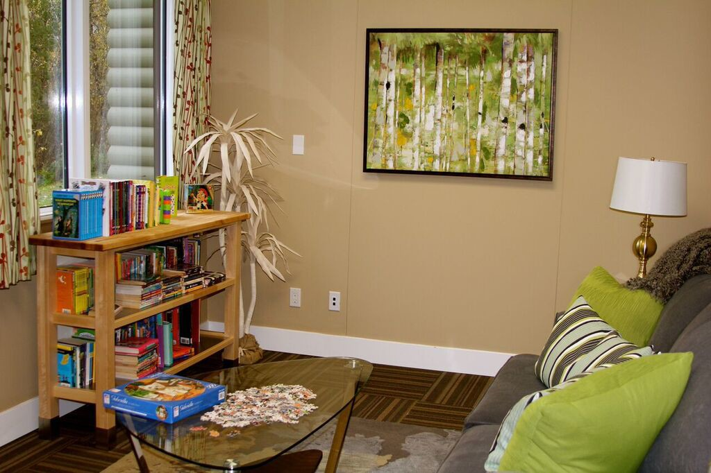 Be Brave Ranch, cozy library nook
