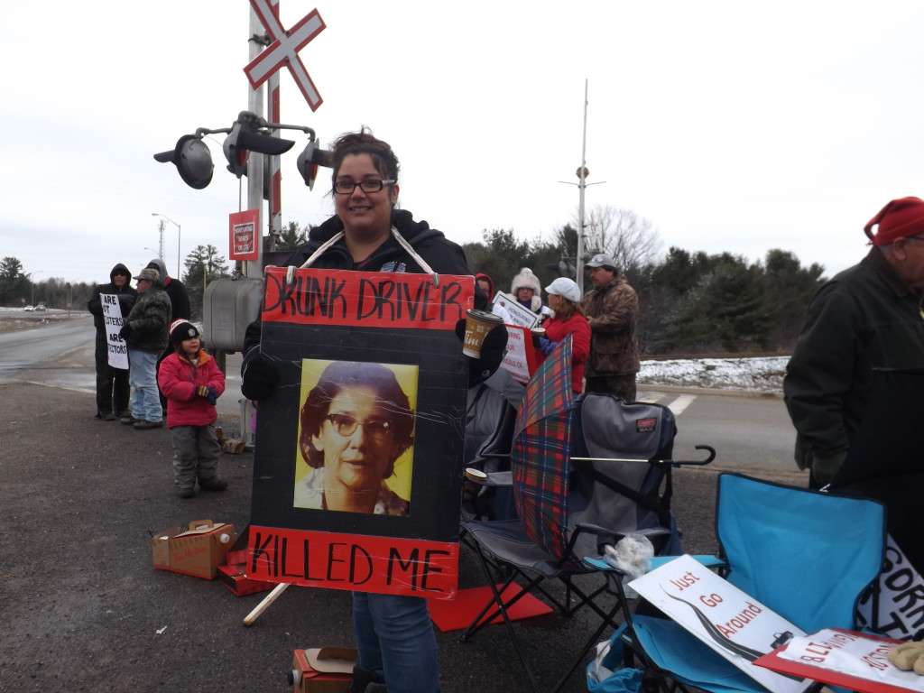 """(Pictured, Stevie Nolan) """"This is my Grandma Rose Nolan, my Dad's mom. She was killed by a drunk driver. She was hitchhiking trying to go to town. He was charged with $750 dollars and 3 months of a suspended license. Was her life only worth $750 dollars? With her passing we lost language, culture, so many teachings. And I never go to meet her. But I feel like she's always around. She's our guardian angel."""" Of her childhood Stevie recalled her parent's great fear of the highway. """"My parents lived right on the highway. I remember I wasn't allowed to cross the highway on my own until I was 13 years old- and my friend lived right across the highway. I didn't understand why they worried so much but now I do. I'm terrified for my own kids now."""" To motorists on Highway 17B Stevie remarked, """"Come visit us, use our resources, our businesses, we're friendly and we love to help you. But slow down or use the new highway if you're on your way to Echo Bay- or the Sault."""""""