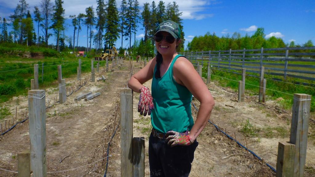 Mandy Ramdhaine, budding vintner!