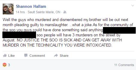 Shannon FB comment