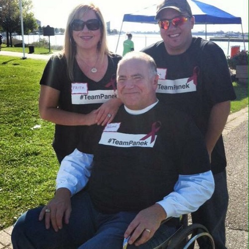 Faith and Brian and their son, Matthew, at their first Myeloma March in Sault Ste. Marie (2015)