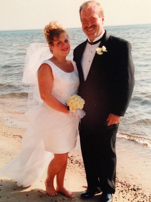 Faith and Brian Panek. Wedding day 1998.